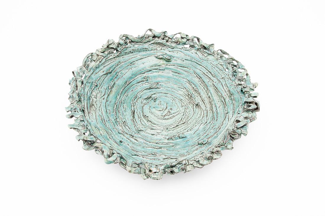 piatto ceramica lavorazione riccio