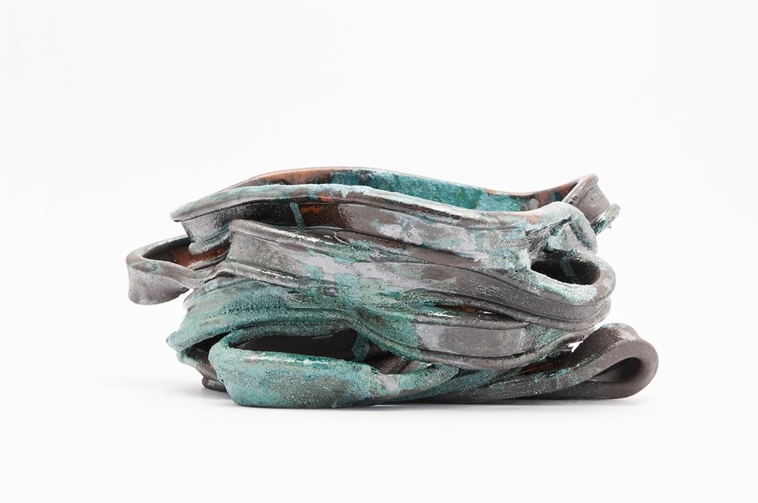 opere ceramica fasce verde
