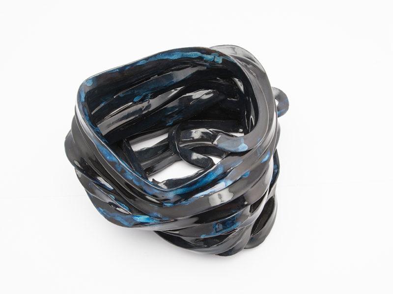 vaso ceramica nero