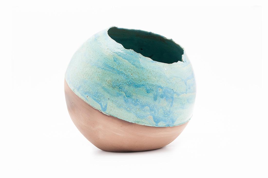 ceramica fatto a mano vaso sfera